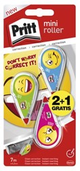 CORRECTIEROLLER PRITT MINI EMOJI 4.2MM STRIPHAAK 2+1 STUK