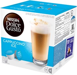 DOLCE GUSTO CAPPUCCINO ICE 16 CUPS / 8 DRANKEN 16 CUP