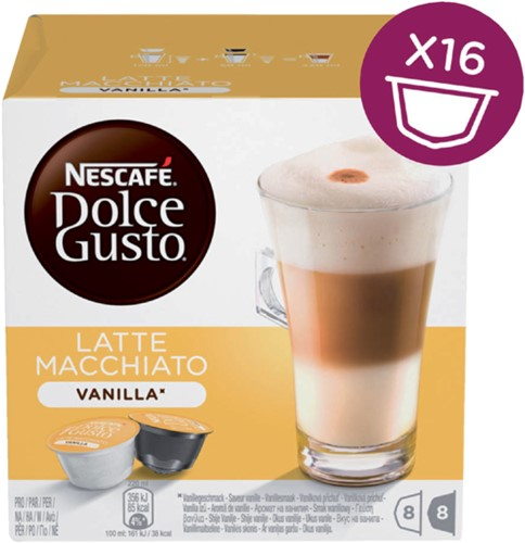 DOLCE GUSTO VANILLE MACCHIATO 16 CUPS / 8 DRANKEN 16 CUP-5