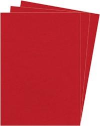 VOORBLAD FELLOWES A4 LEDERLOOK DONKERROOD 100 STUK