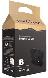 INKCARTRIDGE WECARE BRO LC-980 ZWART 1 STUK