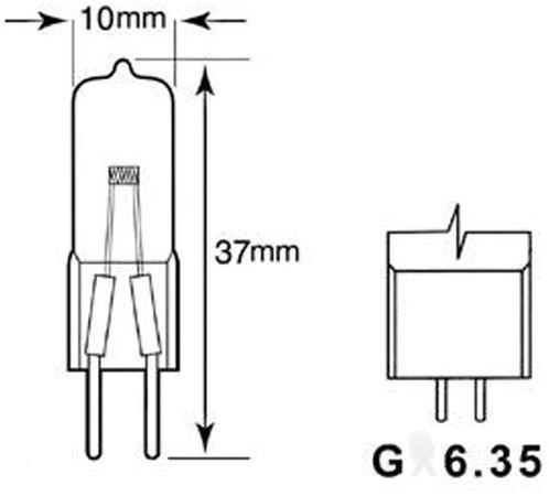 HALOGEENLAMP PHI CAPS 50W GY6.35 12V CL 4000H 1 STUK-2