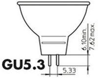 LEDLAMP PHILIPS GU5.3 7W=50W 2700K 36GRADEN 1 STUK-2