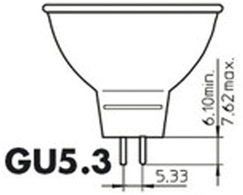 LEDLAMP PHILIPS GU5.3 7W=35W 2700K 36GRADEN 1 STUK