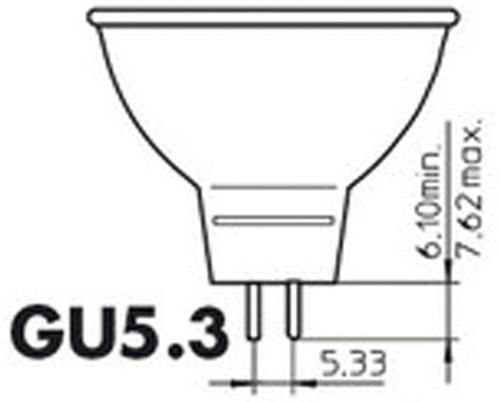 LEDLAMP PHILIPS GU5.3 7W=50W 2700K 36GRADEN 1 STUK