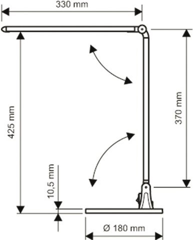 BUREAULAMP MAUL STREAM LED ZILVER 1 STUK-1