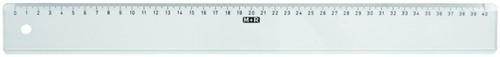 LINIAAL M+R 1140/000 PLASTIC 40CM TRANSPARANT 1 Stuk