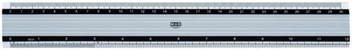 LINIAAL M+R ALUMINIUM ANTISLIP 30CM 1 Stuk