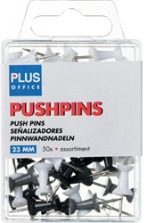 PUSH PINS PLUS OFFICE ASSORTI 50 STUK
