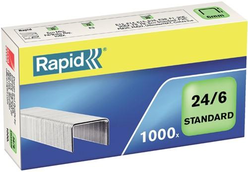 NIETEN RAPID 24/6 GEGALV STANDAARD 1000ST 1000 Stuk