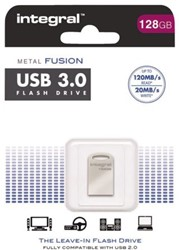 USB-STICK INTEGRAL FD 128GB METAL FUSION ZILVER 1 STUK