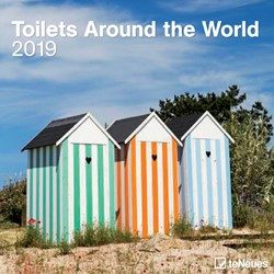 KALENDER 2019 TENEUES TOILETS AROUND WORLD 30X30CM 1 STUK
