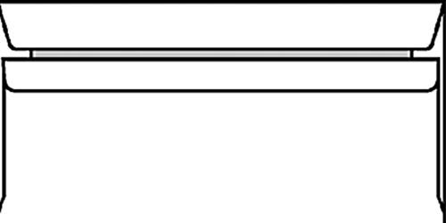 ENVELOP BANK C5/6 114X229 ZK+STRIP 80GR WIT 500 Stuk