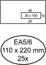 ENVELOP QUANTORE VENSTER VR EA5/6 110X220 80GR ZK 25 STUK