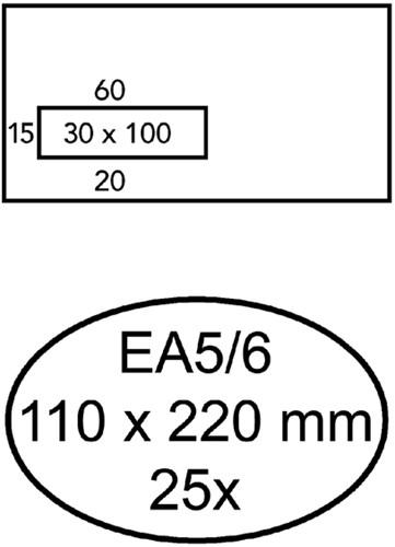 ENVELOP QUANTORE VENSTER VL EA5/6 110X220 80GR ZK 25 Stuk