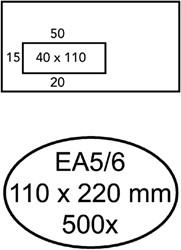 ENVELOP QUANTORE VENSTER EA5/6 VL45 ZK 80GR WIT 500 STUK