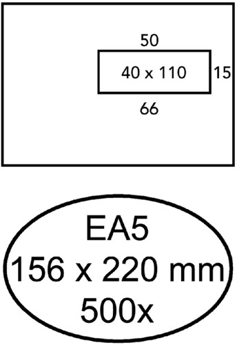 ENVELOP HERMES VENSTER EA5 VR 4X11 ZK 80GR 500ST 500 Stuk
