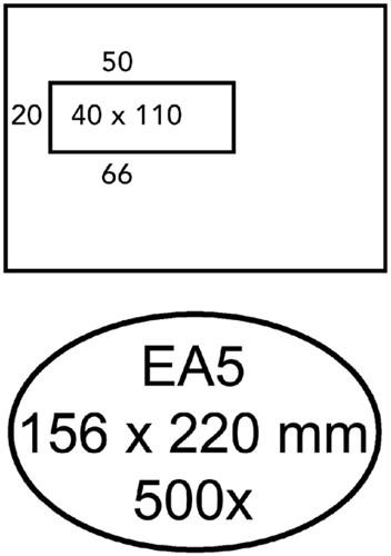 ENVELOP QUANTORE VENSTER EA5 VL40 80GR WIT 500 Stuk