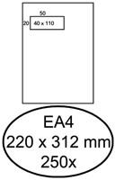 ENVELOP HERMES VENSTER EA4 VL 4X11 ZK 120GR 250ST 250 STUK