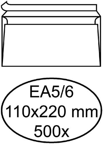 ENVELOP QUANTORE BANK EA5/6 110X220 ZK 80GR WIT 500 Stuk