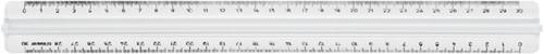 LINIAAL M+R 1330 MET HANDGREEP 30CM TRANSPARANT 1 Stuk