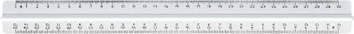 LINIAAL M+R 1331 MET HANDGREEP 30CM WIT 1 Stuk