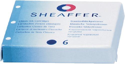 INKTPATROON SHEAFFER SKRIP CLASSIC BLAUW 6 Stuk