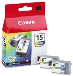 INKCARTRIDGE CANON BCI-15 2X KLEUR 2 STUK