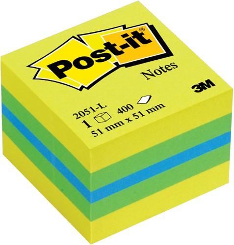 MEMOBLOK MINIKUBUS 3M POST-IT 2051L 51X51MM LEMON 1 Stuk